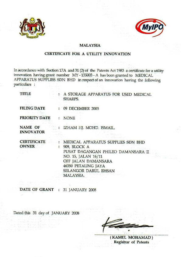 medical-apparatus-supplies-2008-MyIPO-Patents
