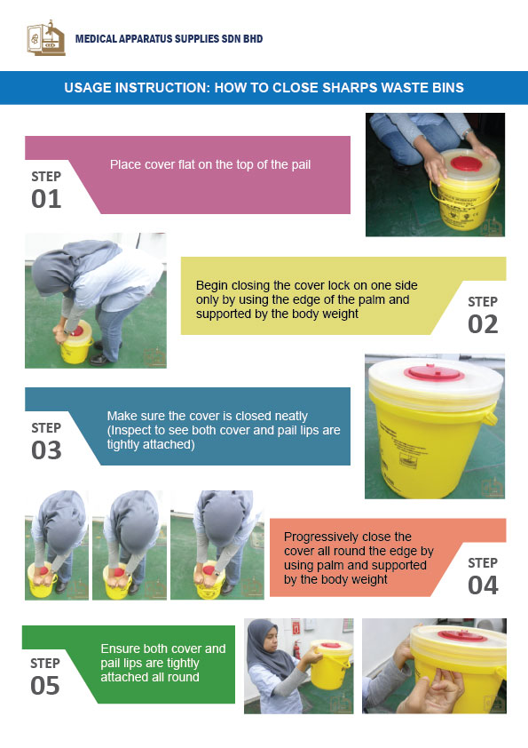 How to Close Sharps Waste Bins