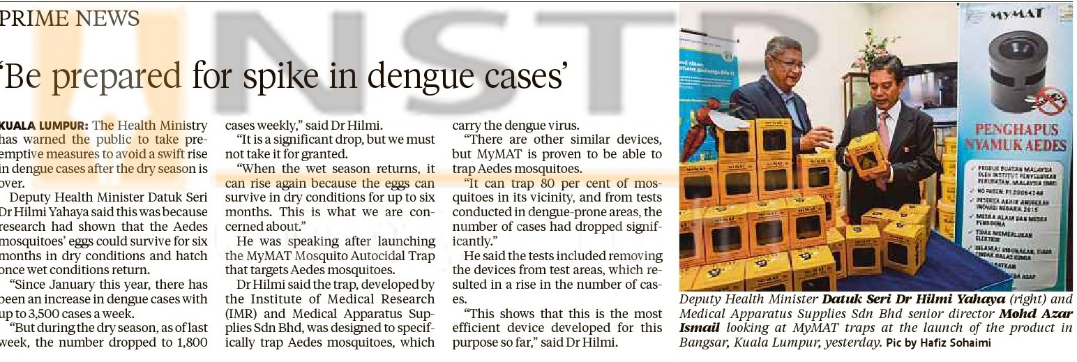 Be Prepared for Spike in Dengue Cases